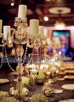 Acrylic Crystal clear wedding candelabras candle holders table centerpiece wedding Supply