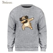 Dabbing Pug Sweatshirt Men Print Funny Hoodie Kpop Hip Hop C