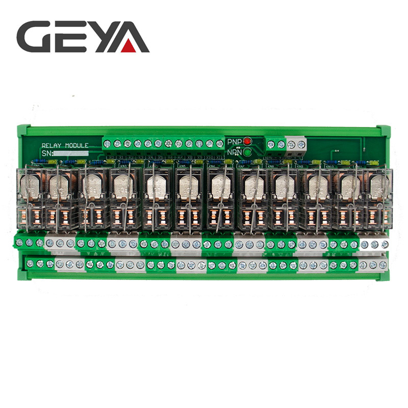 GEYA 2NG2R 12 Channel Omron Relay Module 2NO 2NC 12VDC 24VDC DPDT Relay PCB BOARD in Relays from Home Improvement