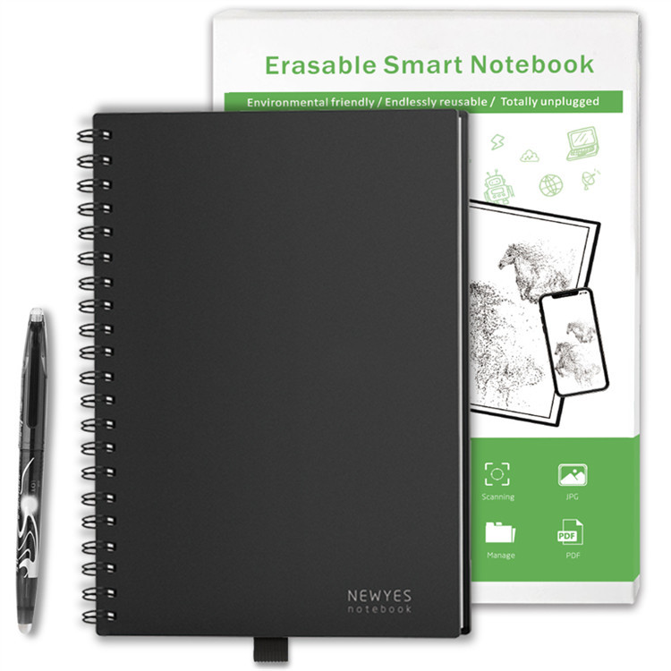 Smart Notebook Paper A5 B5 school office Reusable Erasable Cloud Storage Flash Storage App Connection Notepad Lined With Pen