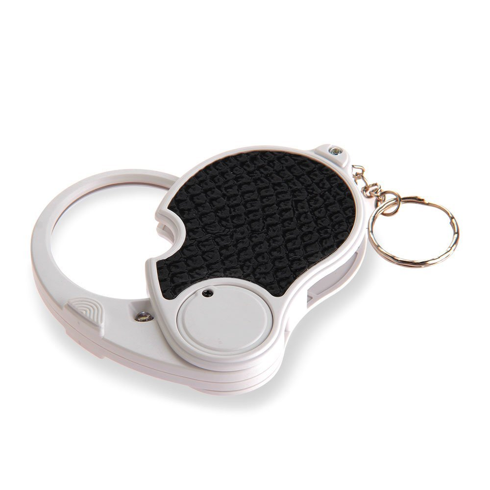 5 Trade Loupe Magnifying Glass with LED Lamp Pocket Magnifier Portable Folding Keyring free shipping x3 x6 card led magnifier with led light leather case magnifying glass ultra thin portable square loupe