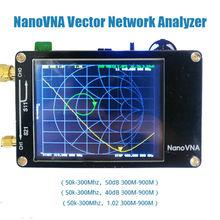 Analizador de red vectorial NanoVNA, pantalla táctil de onda corta MF, HF, VHF, UHF, Analizador de antena, Escudo de Metal + batería, 50KHz 900MHz