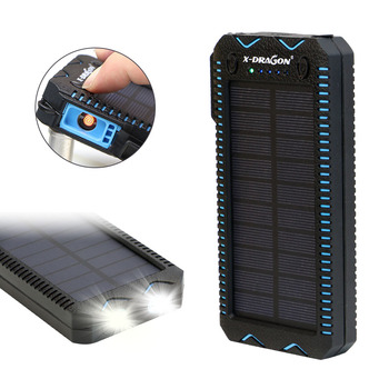 15000mAh Solar Power Bank with Cigarette Lighter