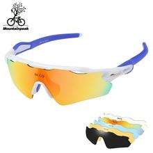 Full Coating Cycling Glasses Mountain Bike Goggles Polarized Bike Sunglasses Bicycle Outdoor Sports 30g Goggles Eyewear 5 Lens