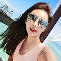 Mezclar viento Moda Mujeres Flat Top gafas de Sol Mujer Diseñador de la Marca Gafas de Sol de Espejo de Gran Tamaño Ladies Celebrity gafas de Sol UV400