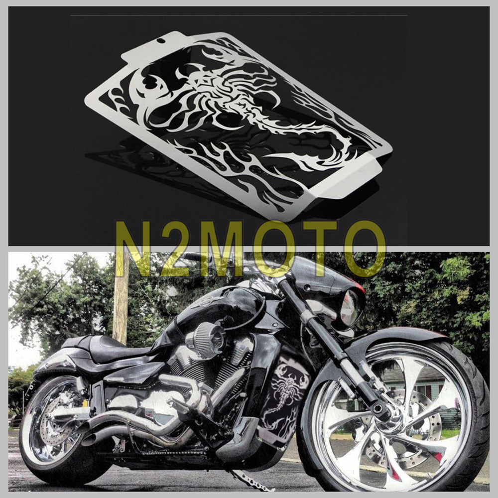 NEW Motorcycle Stainless Steel Radiator Grill Grille Cover Guard for Suzuki Boulevard M109R 2006-2014 Cool Scorpion Flame Style Лобовое стекло