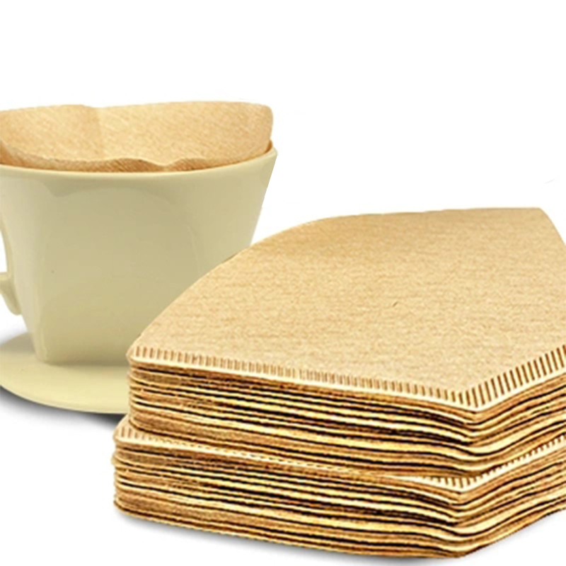 100 Pcs/200Pcs/300 PCS/bag Cone Shape Disposable Coffee Filter Paper Unbleached Pre-folded Filter Coffee Maker Strainer Tools