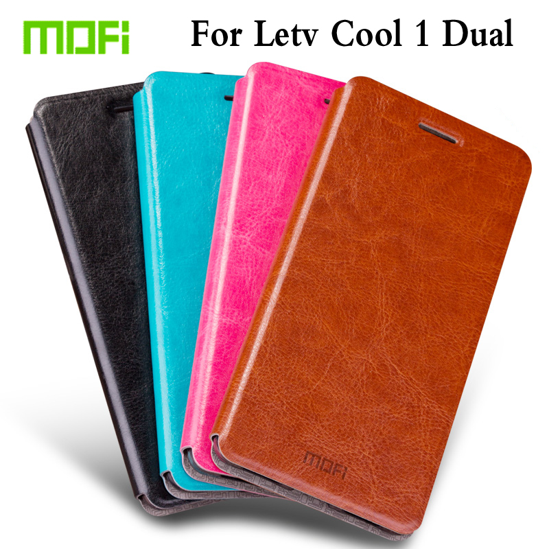M Original Mofi Case Fashion Book Flip PU Leather Cell Phone Cover For LeTV LeEco Cool 1 Dual Coolpad Cool1 5.5 Stand Case