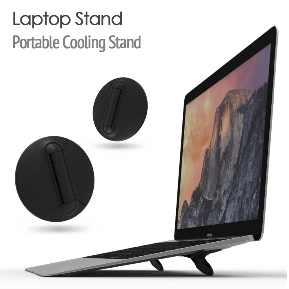 Black Notebook Cooling Bracket Laptop Stand Cooler Radiator Holder Foldable For iPad MacBook Air Mac Desk Stands Tablet Mount in Laptop Cooling Pads from Computer Office