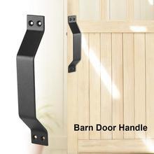 Carbon Steel Barn Door Pull Handle for Sliding Doors Gates Garages Sheds poignee de porte door handles