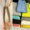 2017 Hot South Korean exports cotton thread super elastic knee patch color candy nine PANTS LEGGINGS Boothose Capris Leguin