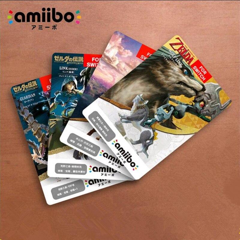 18PCS Zelda Amiibo NFC Tag Cards Set 20 Heart Wolf Link Fierce Deity Amiibo Cards Breath