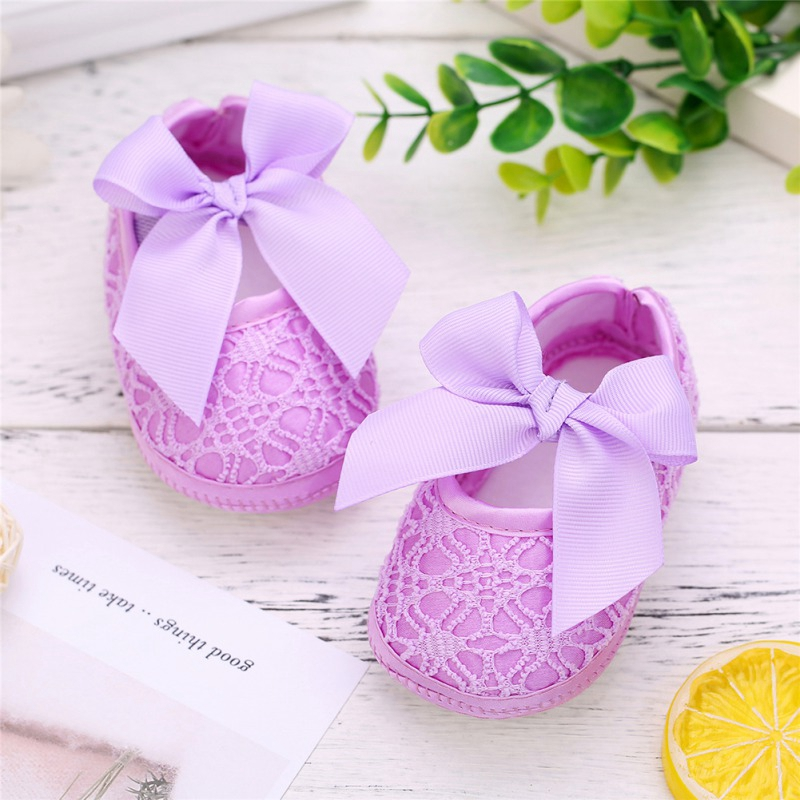 Baby Shoes Baby Girl Soft Shoes Soft Comfortable Bottom Non-slip Fashion Bow Shoes 2019 First Walkers