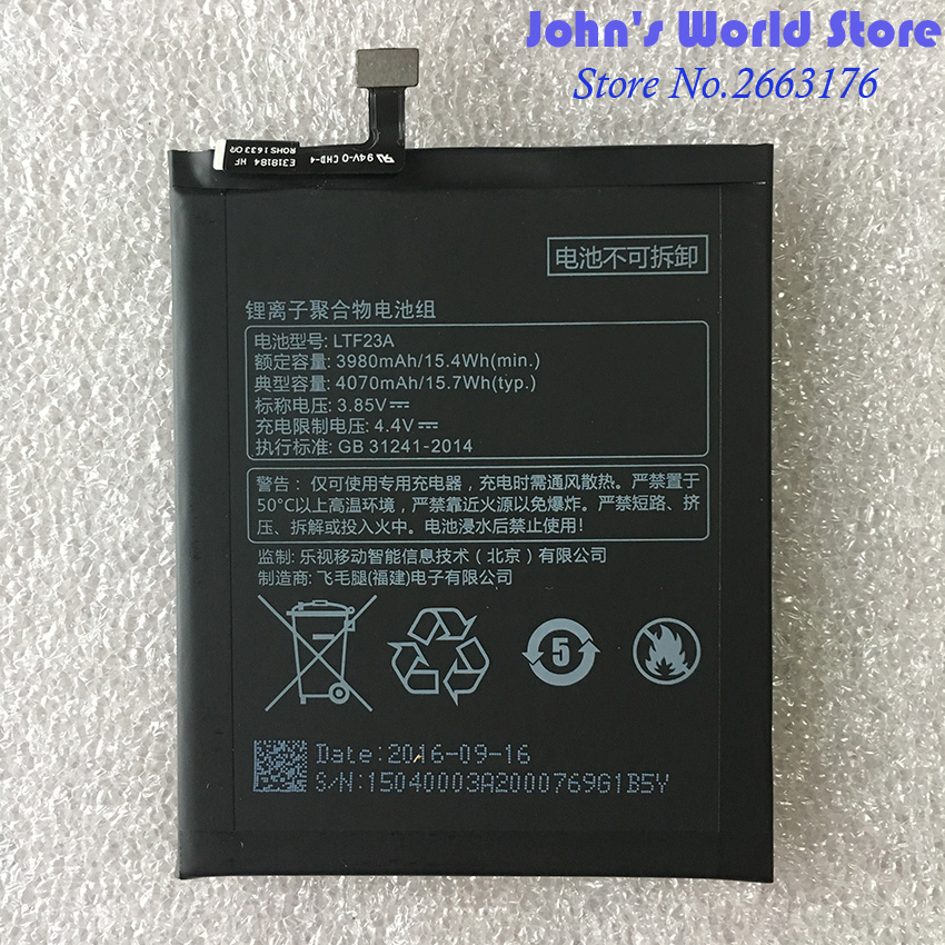 D'origine de Haute Qualité LTF23A 4070 mAh Grande Capacité Li-ion Batterie De Secours Pour Letv LeEco Pro3 X720 X722 X728 Téléphone Intelligent