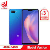 Global Version Xiaomi Mi 8 Lite 4GB 64GB Mi8 Lite Snapdragon 660 AIE 6.26 19:9 Full Screen 24MP Front Camera Cellphone 1080P