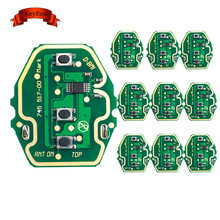 KEYECU 10PCS EWS Adjustable Frequency Remote Control Circuit Board for BMW 3 Button 315MHz/433MHz Without Key Shell