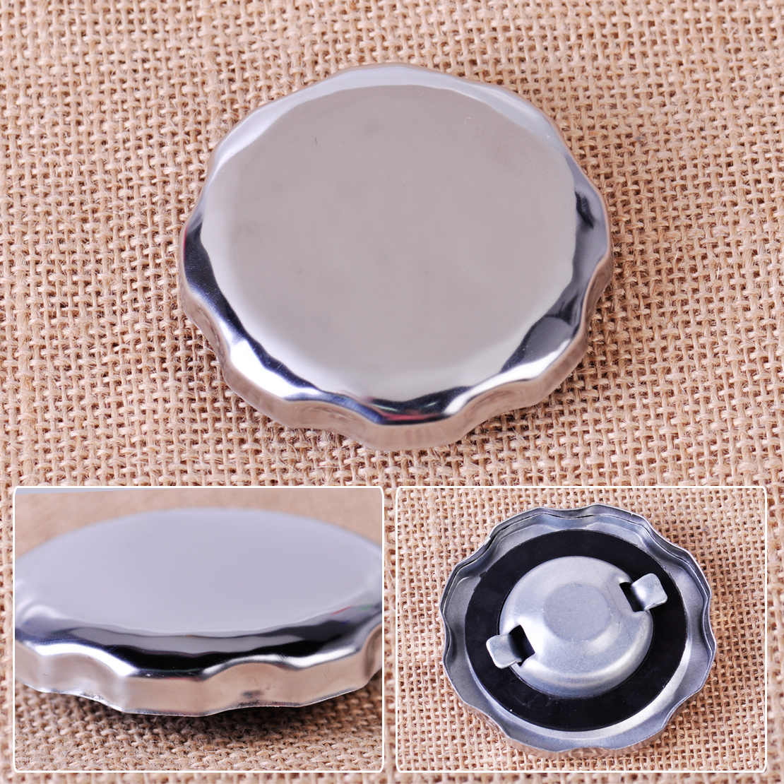LETAOSK New Chrome Plated Gas Fuel Tank Cap Replacement Fit For Honda GX120 GX160 GX200 GX340 GX390