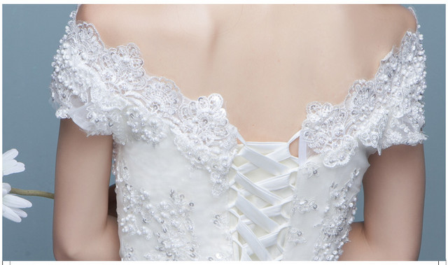 It s YiiYa Red Floor-length Wedding Dresses Strapless Brides Gowns Lace Up  Vestidos De Novia Casamento HX032USD 101.49-110.64 piece 521fed0c2ec8