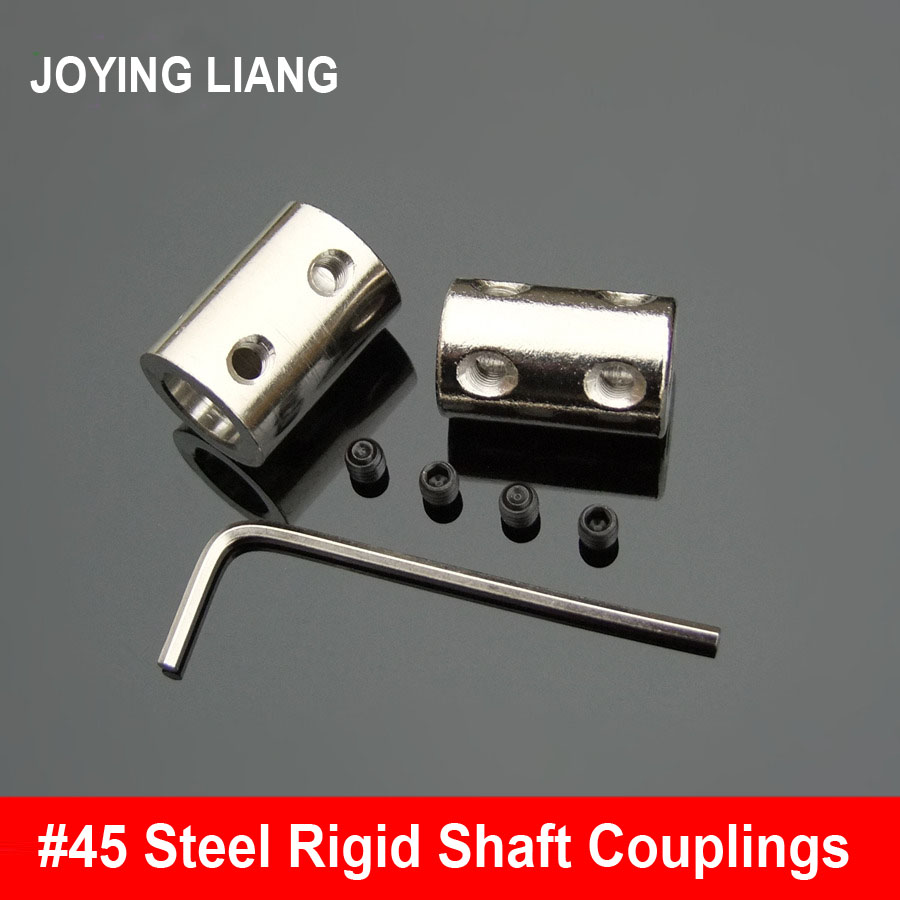No. 45 Steel Cylinder Rigid Shaft Coupling Motor Fittings Steel Bushing with The Screw Mechanical Transmission Shaft Couplings 2pcs diametre 30mm shaft diameter5 14 dual diaphragm couplings ball screw cnc coupling shaft connector servo motor coupling page 5