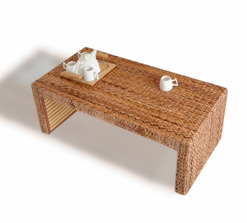 Coffee Table And Chair Sets: Rattan Tea Tables And Chairs Combination Of Solid Wood