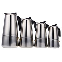 Stainless Steel 2 4 6 9 Cups Coffee Maker Pot For Household Moka Espresso Coffee Latte