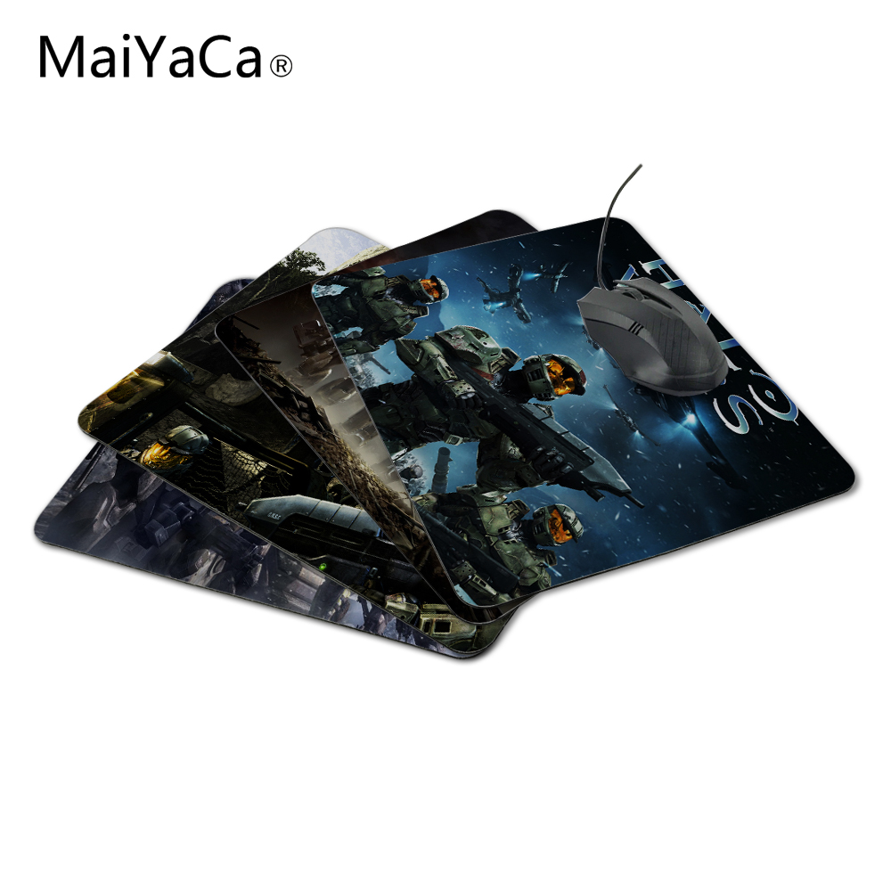 MaiYaCa New Arrival Funny New Halo 3 Wars Gaming Mouse Gaming Rubber Durable PC Anti-slip Mouse Mat for Optical/Trackball Mouse