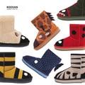 Koovan Children Boots 2017 Winter Baby's Boys Girls Kids Snow Carton Monkey Genuine Leather Sheep Fur Wool Sheepskin Warm Shoes