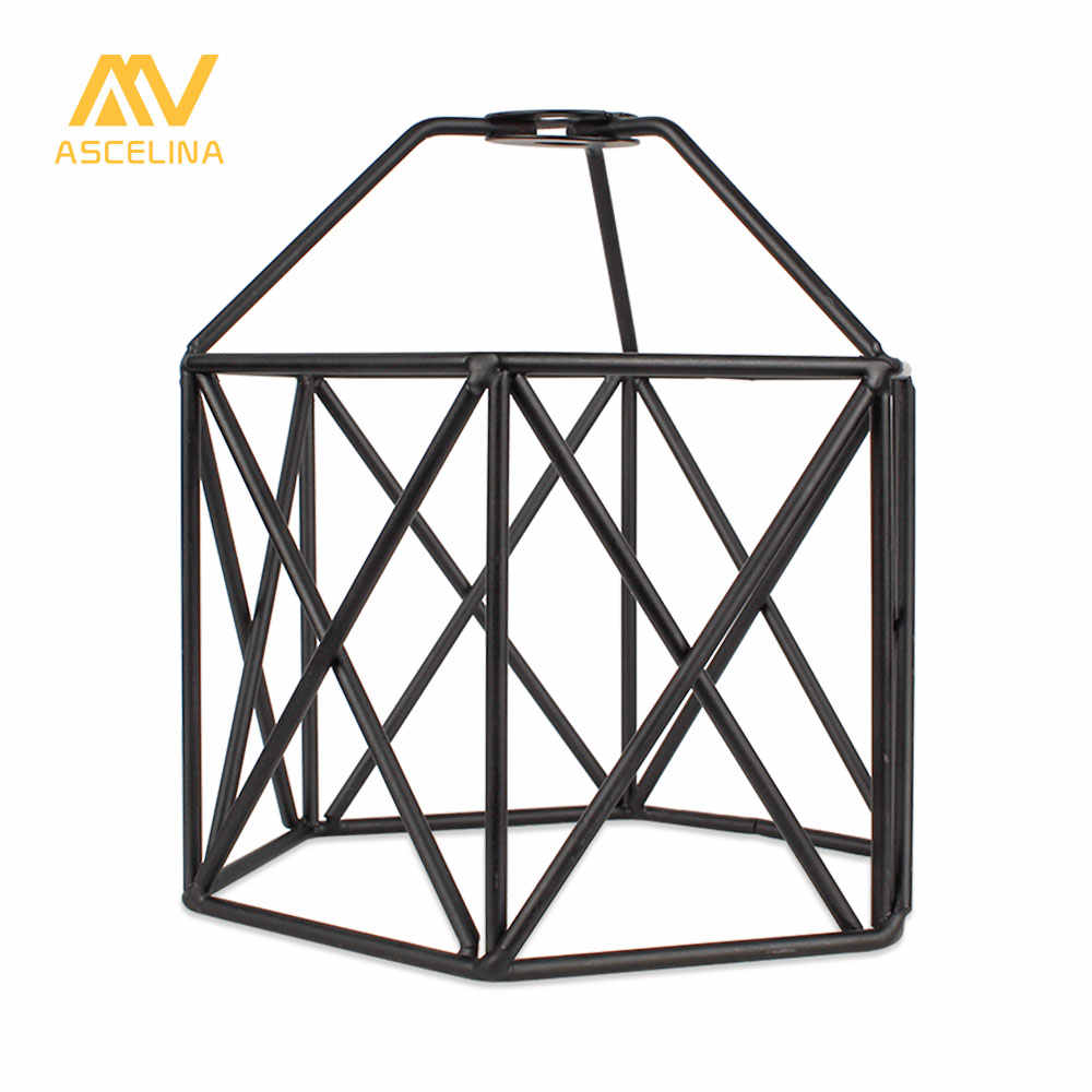 Lampshade Ceiling light lamp shade Loft Metal Cage Bulb Guard Clamp Wrought Iron Home Decoration Pendant light covers