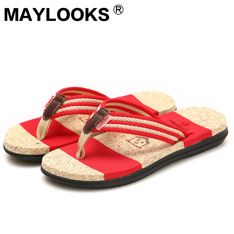2018 Summer flip flops slippers women beach slippers / couple slippers LA-46 summer couple slippers 2016 new tide male cork slippers couple slippers beach sandals women sandals page 6