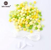 yellow silicone bead