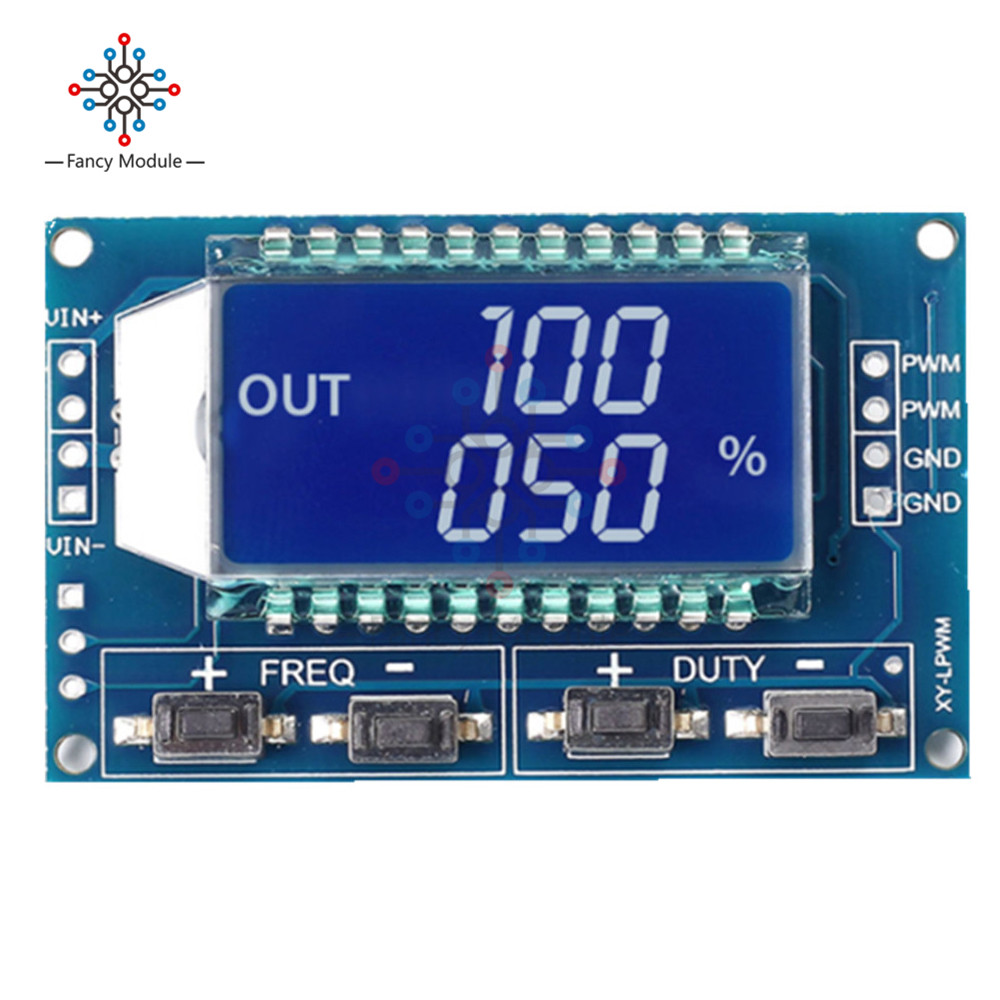 Signal Generator PWM Pulse Frequency Duty Cycle Adjustable Module LCD Display 1Hz-150Khz 3.3V-30V PWM Board Module adjustable ne555 pulse frequency adjustable module duty cycle module square wave signal generator diy kit