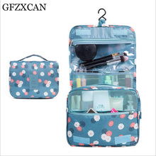 GFZXCAN brand portable waterproof polyester travel cosmetic bag hanging wash storage folding bathroom