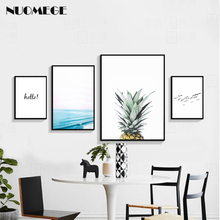 NUOMEGE Nordic Minimalist Wall Art Sea Bird Poster and Prints Landscape Decorative Picture for Living Room Decoration Painting