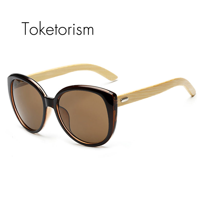 Us 158 Toketorism Fashion Trend Wooden Bamboo Sunglasses Cat Eye Frame Vintage Bambu Oculos De Sol 1517 In Sunglasses From Apparel Accessories On
