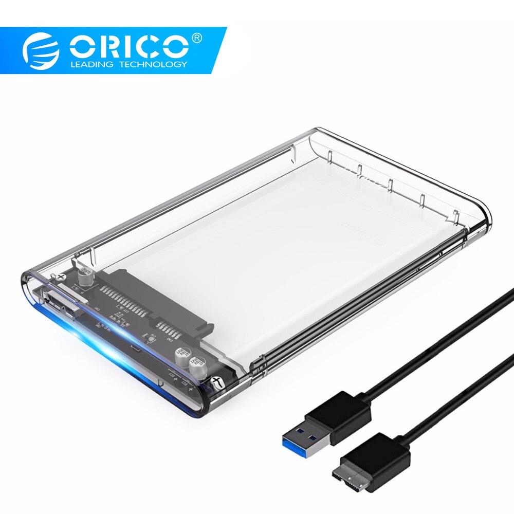 ORICO 2139U3 Festplatte Gehäuse 2,5 zoll Transparent USB3.0 Festplatte Gehäuse Unterstützung UASP Protokoll für 7-9,5mm HDD