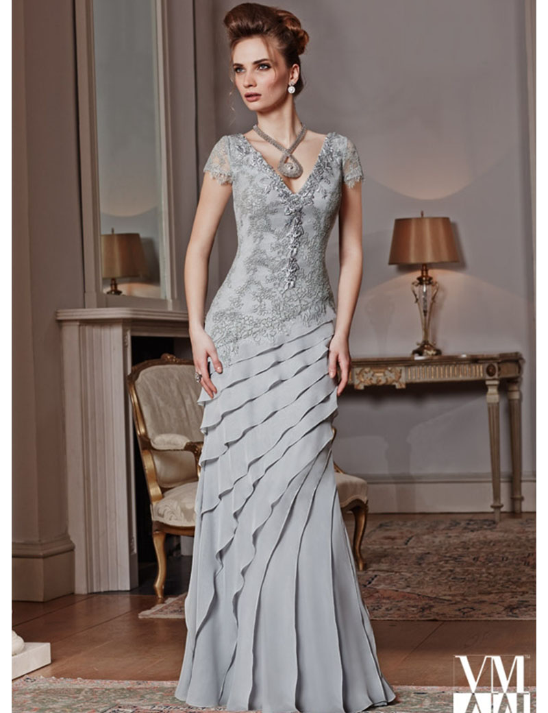 Buy elegant silver gray mother of the bride dresses pant for Formal wedding dresses for mother of the bride
