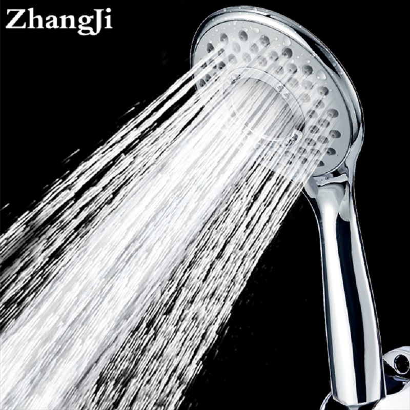 ZhangJi 3 Modes Water Saving Bath Shower Nozzle Pressure Boost Showerhead Cycle 10.8cm Easy Clean Rainful Showerhead ZJ202