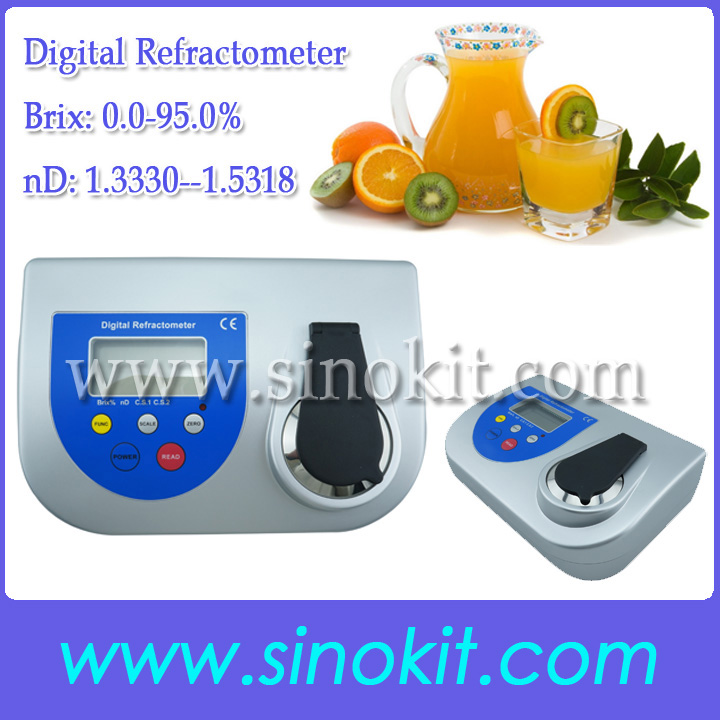 Bench Brix 0.0-95.0% High precision Sugar and nd Digital Refractometer BDR500