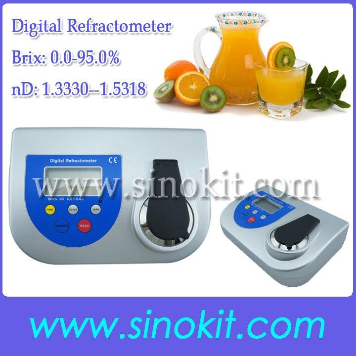 Bench Brix 0,0 95.0% Высокая точность сахара и nd Цифровой рефрактометр BDR500