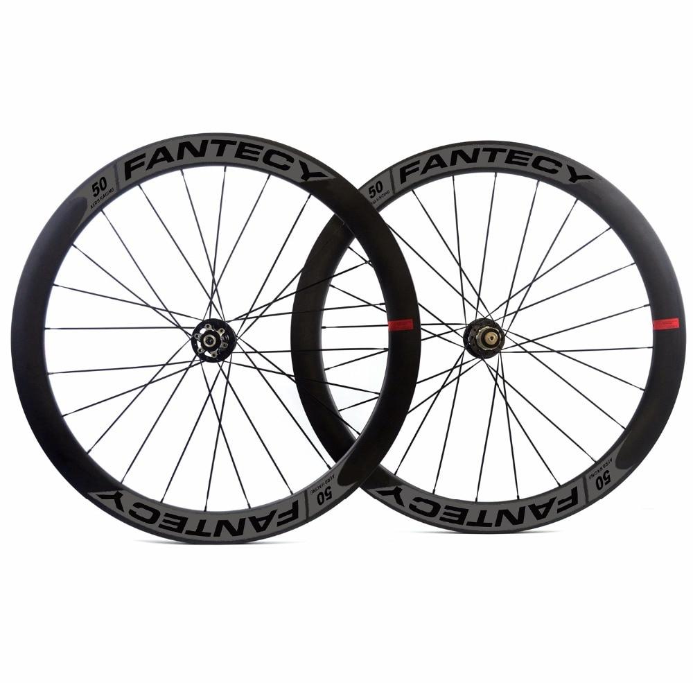 700C 50mm profondeur route frein à disque carbone roues 25mm largeur Pneu/Tubulaire Disque Cyclocross Vélo carbone roues UD mat finition