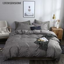 LOVINSUNSHINE Queen Size Comforter Sets Bedding Set Queen Size Solid Color Gray Duvet Cover AB#178