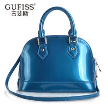 Shell bag japanned leather handbag Small Large cowhide fashion one shoulder cross-body women's handbag