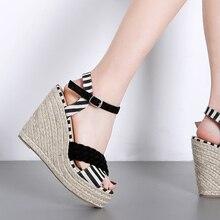 Platform Shoes Woman Ladies Wedges Wedge Sandals Vulcanize Gladiator High Heels ladies wedge sandals Summer Sapatos