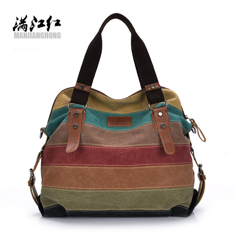2017 Women Canvas Tote Bag Patchwork Lady Shoulder Bags Fashion Striped Girls Handbags Sac A Main Female De Marque Bolsos Mujer kvky canvas bag tote striped women handbags laides shoulder bag new fashion sac a main femme de marque casual bolsos mujer