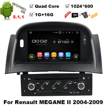 1024*600Quad Core Android 5.1.1 car dvd player For 8″ RENAULT Megane II (2004-2009) gps bluetooth radio stereo DVR 3G Map camera