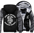 Fashion Hot-Selling Men Women SON  Sons of Anarchy Samcro Zipper Jacket Thicken Hoodie Coat Clothing Casual Free shipping