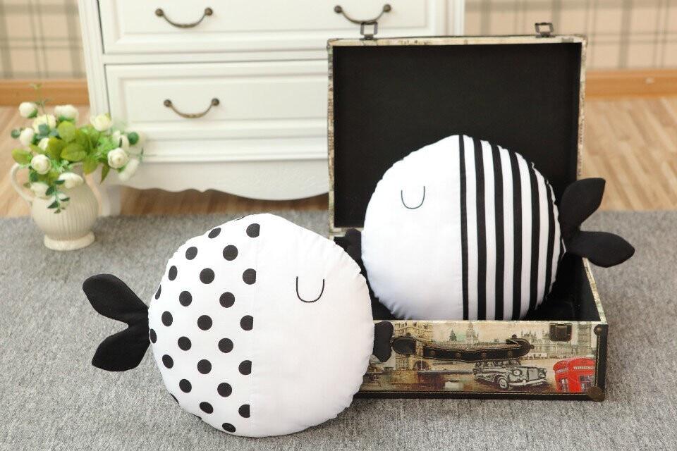 Black White Fish Cushions For Home Decor Best Children's Lighting & Home Decor Online Store