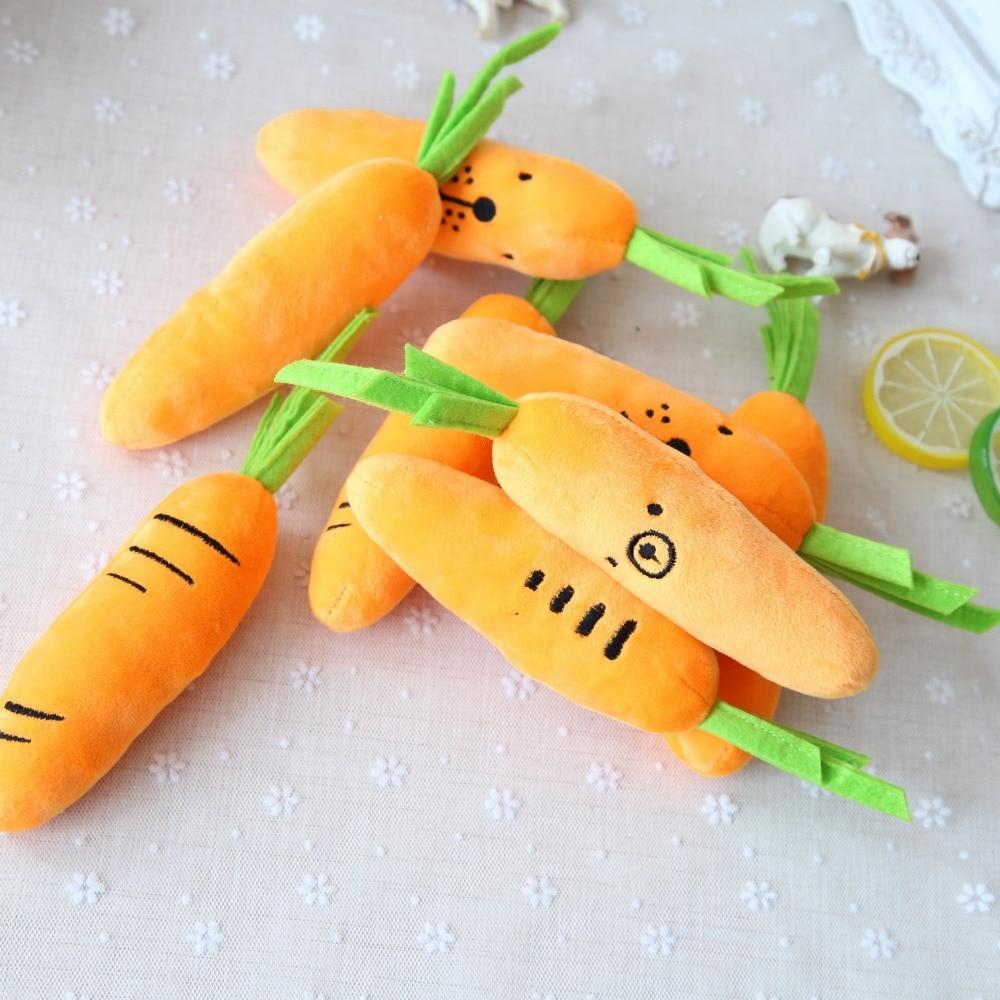4 UNID zanahoria Linda del animal doméstico del gato del perro de Sonido squeakers squeaky Toy para el pequeño perro Chihuahua dog chew juguete de Felpa para mascotas producto