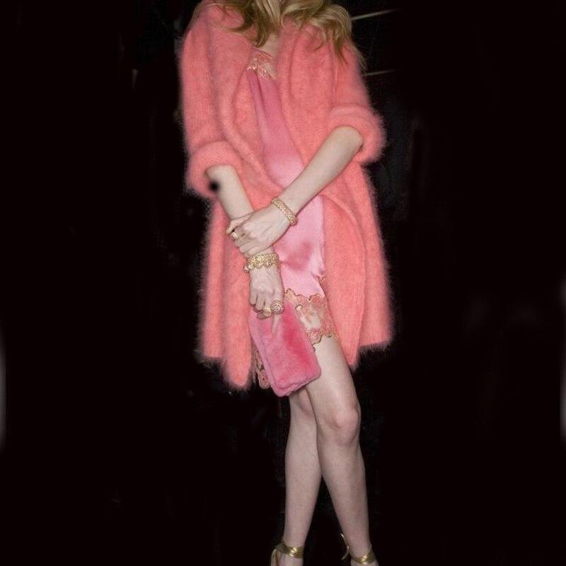 ЛОВЕЛИДОНКЕИ прави минк кашмир џемпер жене кашмир кардиган плетене чиста минка јакна капут бесплатна достава М7