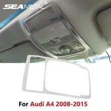 Для Audi A4 Q5 B8 2008 2009 2010-2012 2013 2014 2015 автомобиля Лампы для чтения охватывает интерьер купола лампы украшения рамка Обложка отделка